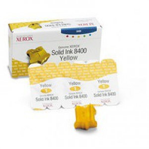 Xerox Phaser 8400 Solid Ink Stick Yellow Pack of 3 108R00607