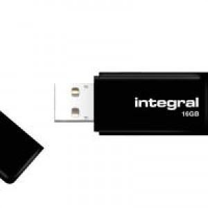 Integral Black USB 16GB Flash Drive