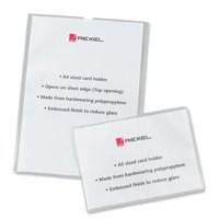 Image for Rexel Card Holder Polypropylene Wipe-clean Top-opening A5 Ref 12093 [Pack 25]