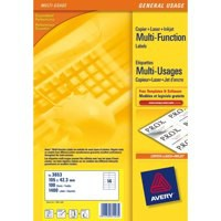 Avery Multifunction Copier Labels 14 per Sheet 105x42.3mm White Ref 3653 [1400 Labels]