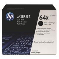 HP No.64X Laser Toner Cartridge Black Twin Pack Code CC364XD