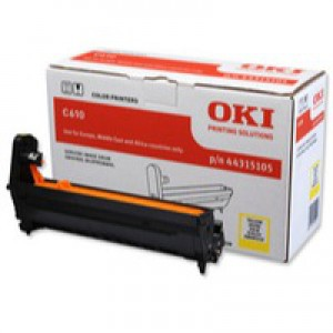 Oki C610 Image Drum 20K Yellow 44315105