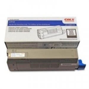 Oki C711 Toner Cart Black 44318608