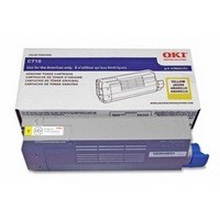 OKI Laser Toner Cartridge Page Life 11000pp Yellow Ref 44318605