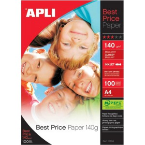Apli Best Price Photo Paper Glossy 140gsm A4 Code 11804
