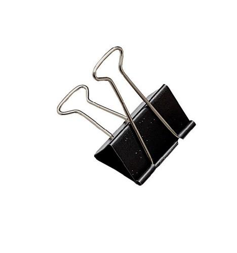 Whitecroft Foldback Clip 41mm Black Ref 23751 [Pack 10]