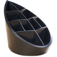 Avery DTR Eco Pen Pot 10 Compartments Leaf Design W100xD180xH119mm Black Ref DR450BLK