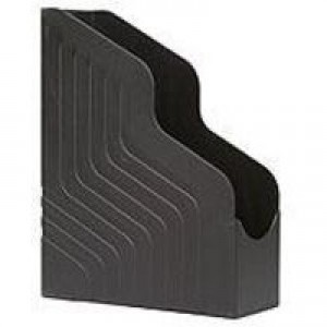 Avery Original Magazine Rack File Jumbo High-impact Polystyrene A4 Plus Black Ref 444BLK [Pack 6]