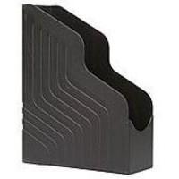 Avery Original Magazine Rack File Jumbo High-impact Polystyrene A4 Plus Black Ref 444BLK [Pack 6]