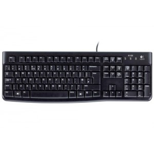 Logitech K120 UK Business Keyboard Wired USB Low-profile Keys Ref 920-002524
