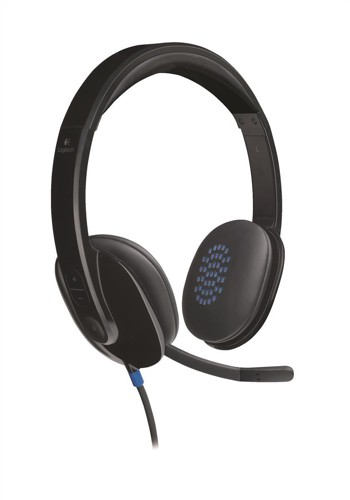 Logitech H540 Headset USB Laser-tuned Speakers with On-ear Controls Ref 981-000480