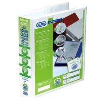 Elba Presentation Ring Binder PVC 4 D-Ring 50mm Capacity A4 White Ref 400008433 [Pack 4]