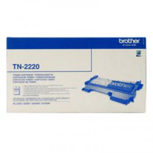 Brother Laser Toner Cartridge Page Life 2600pp Black Ref TN2220