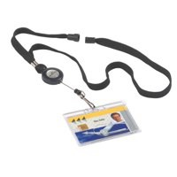 Durable Textile Necklace Reel for Name Badges with Safety Release Ref 8223 [Pack 10]