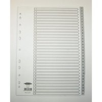 Concord Grey Polypropylene Index A4 1-31 62805