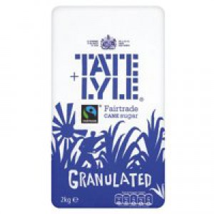 Tate and Lyle Granulated Sugar Bag 2kg Code A03912