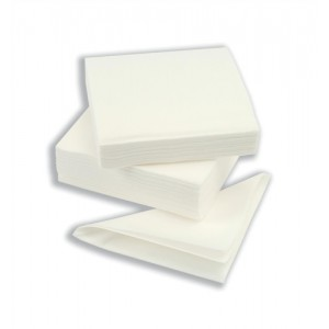 Napkin High quality Single Ply 390x390mm White [Pack 600]