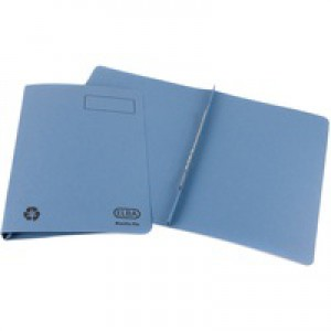 Elba Ashley Flat File 315gsm Capacity 35mm Foolscap Blue Ref 100090154 [Pack 25]