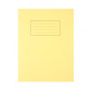 Silvine Exercise Book Ruled and Margin 80 Pages 229x178mm Yellow Ref EX103 [Pack 10]