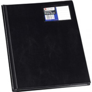 Rexel Nyrex Slimview Display Book 12 Pockets A4 Black Ref 10005BK