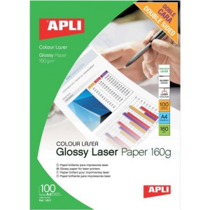 Apli Laser Paper Glossy Double-Sided 160gsm A4 Code 11817