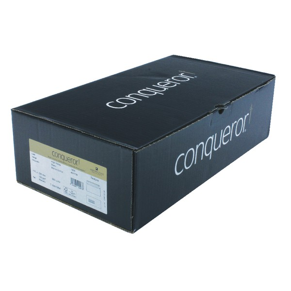 Conqueror Envelopes Wallet Peel and Seal with Window Laid High White DL Ref CDE1525HW [Pack 500]