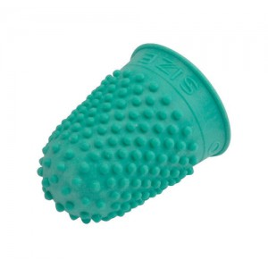 Quality Thimblette Rubber for Note-counting Page-turning Size 0 Small Green Ref 265478 [Pack 10]