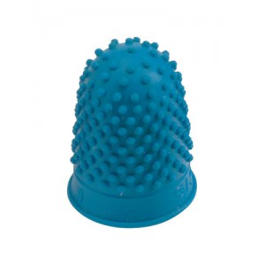 Quality Thimblette Rubber for Note-counting Page-turning Size 1 Medium Blue Ref 265486 [Pack 10]