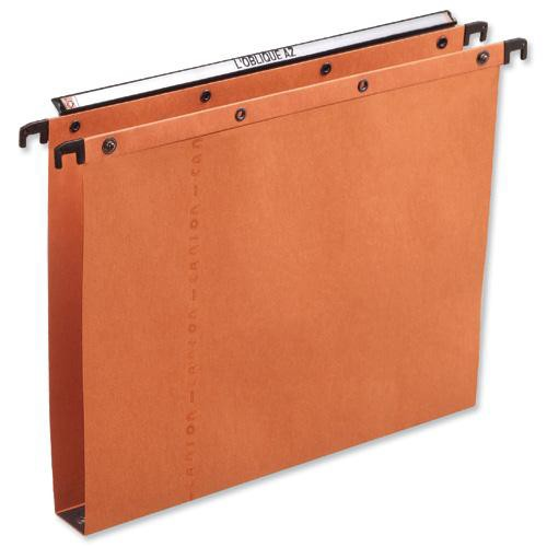 Elba Suspension File Manilla Vertical for 350sheet 30mm Foolscap Orange Ref 100330314 [Pack 25]