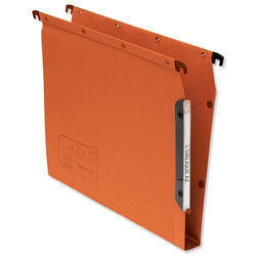 Elba Suspension File Lateral Manilla 30mm Base 240gsm A4 Orange Ref 100330475 [Pack 25]