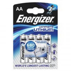 Energizer Ultimate Battery Lithium LR06 1.5V AA Ref 629611 [Pack 4]