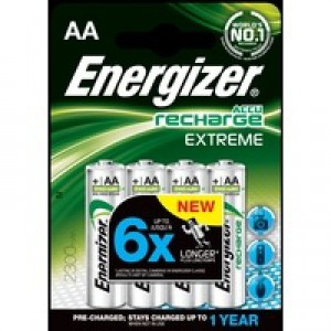 Energizer Battery Rechargeable Advanced NiMH Capacity 2300mAh LR06 1.2V AA Ref 625997 [Pack 4]