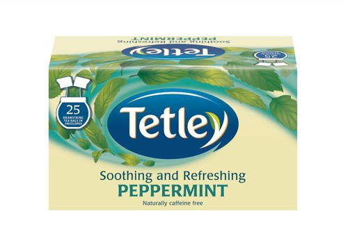 Tetley Peppermint Tea Bags Finest European-sourced Individually Wrapped Pack 25 Code A06676