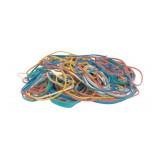 Quality Rubber Bands Assorted Sizes and Colours Ref  [Box 100g]