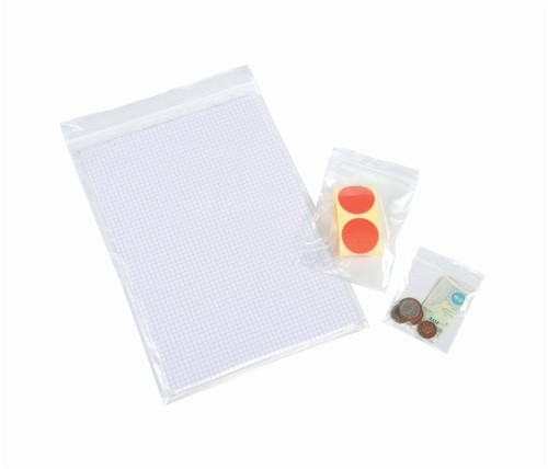 Grip Seal Polythene Bags Resealable 90x114mm [Pack 1000]