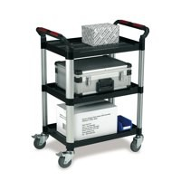 Image for Barton Utility Tray Trolley Standard 3- Shelf Capacity 150kg W460xD750xH980mm Ref WHTT3SS