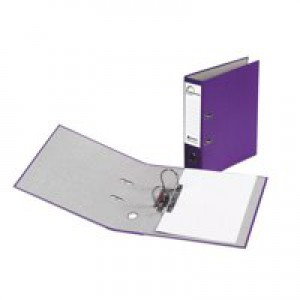 Rexel Karnival Lever Arch File Paper over Board Slotted 70mm A4 Purple Ref 20747EAST [Pack 10]