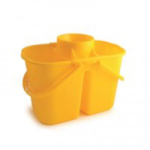 Duo Mop Bucket Colour Coded 7 and 8 Litre Sections Total 15 Litre Yellow