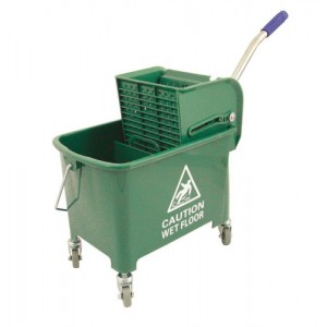 20ltr Mobl with Casters Mop Buck Green