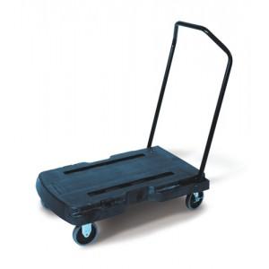 Rubbermaid Triple Trolley with Castors 2 Fixed 2 Swivel Capacity 181kg Platform L826xW521mm Ref 4401