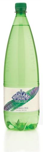 Highland Spring Water Sparkling in Plastic Bottle 1.5 Litre Ref A07229 [Pack 8]