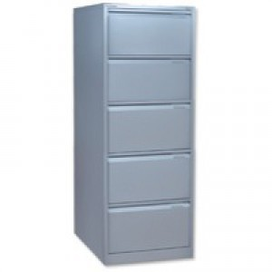 Bisley BS5E Filing Cabinet Flush-front 5-Drawer W470xD622xH1511mm Goose Grey Ref BS5E-73