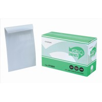 Image for 5 Star Eco Envelopes Recycled Pocket Self Seal Window 90gsm White C4 [Pack 250]