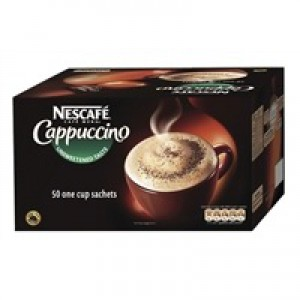 Nescafe Cappucino Instant Coffee Sachets One Cup Ref 12089522 [Pack 50]