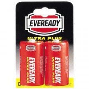 Eveready Battery Silver D Pack of 2 R20B2UP