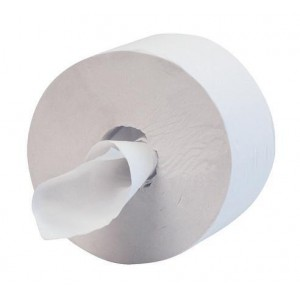 Hostess 400 Toilet Tissue Maxi Jumbo 400m per Roll 1 Ply White Ref 8613 [Pack 12]