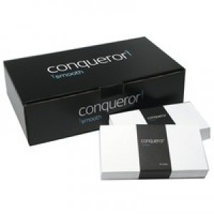 Conqueror Envelopes Peel and Seal Wove 120gsm DL White Ref CWE1007BW [Pack 500]