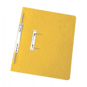 Elba Boston Spiral Transfer Spring File 300 micron for 32mm Foolscap Yellow Ref 100090037 [Pack 25]