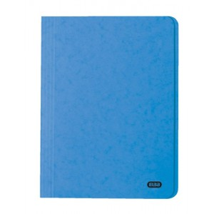 Elba Boston Square Cut Folder Pressboard 300 micron for 32mm Foolscap Blue Ref 100090020 [Pack 50]