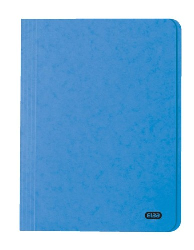 Elba Boston Square Cut Folder Pressboard 300 micron for 32mm Foolscap Blue Ref 100090020 [Pack 50]